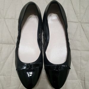 Cole Haan Grand Os Black Patent Toe Flats